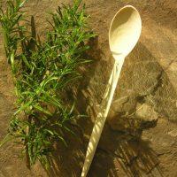 Eating Spoon of Orange Wood