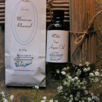 rhassoul clay and argan oil, basic face care kit
