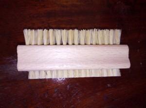 wooden and cactus fiber nail brush