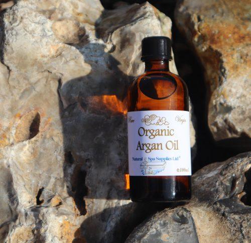 argan oil 100ml with light shadow