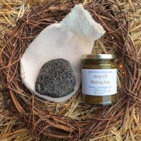 Natural Spa Supplies Exfoliating Kit on straw