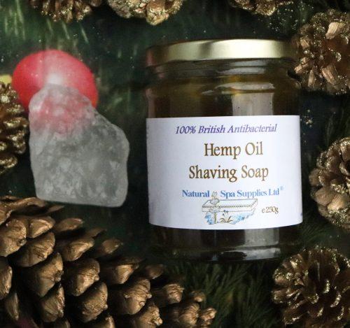 natural shaving kit, hemp oil soap and alum styptic
