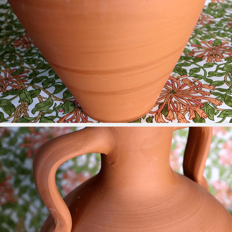 Amphora handle and bottom