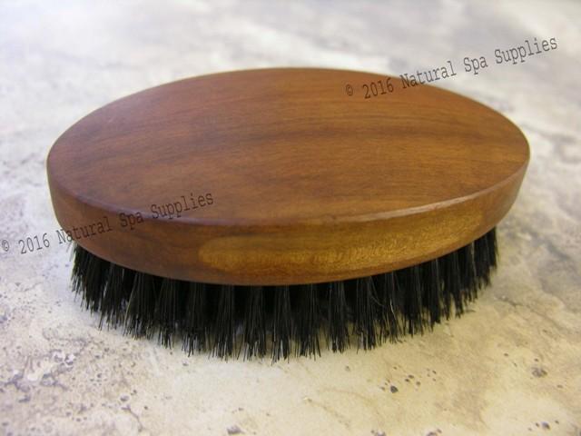 Hair Brush Wood And Black Boar Bristle For Men Or Short Hair