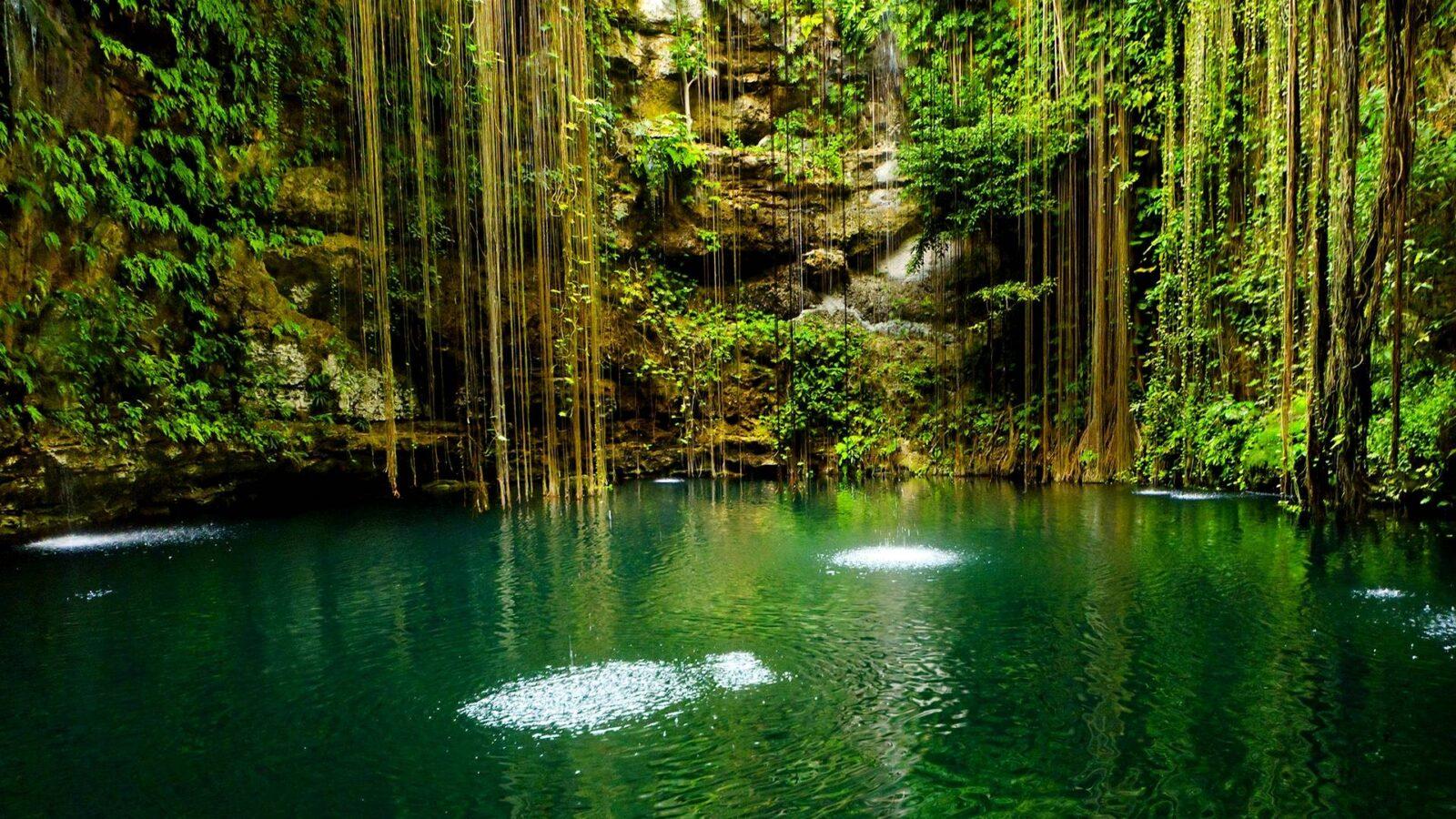 a natural spa pool