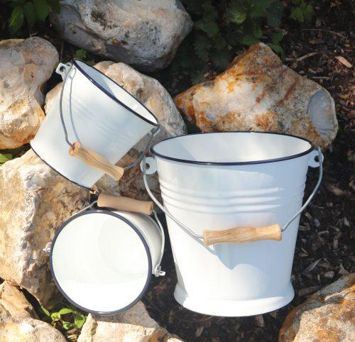 Enamel Bucket | White Enamel Steel Bucket to Buy in the UK