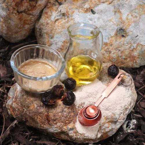 Natural Spa Supplies thankaka, oil and soapnuts recipe 2